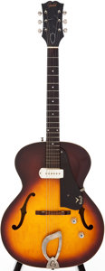 Musical Instruments:Electric Guitars, 1962 Guild X-50 Sunburst Semi-Hollow Body Electric Guitar, Serial #20315....