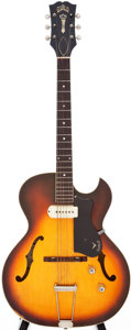 Musical Instruments:Electric Guitars, 1960 Guild T-100 Sunburst Semi-Hollow Body Electric Guitar, Serial # 12470....