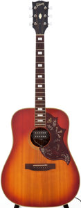 Musical Instruments:Acoustic Guitars, Circa 1975 Gibson Hummingbird Sunburst Acoustic Guitar, Serial #688230....