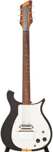 Musical Instruments:Electric Guitars, Circa 1960 Rickenbacker 450 Black Solid Body Electric Guitar,Serial # 4L193....