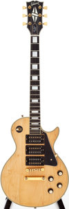 Musical Instruments:Electric Guitars, 1977 Gibson Les Paul Custom Blonde Solid Body Electric Guitar,Serial # 72447519....