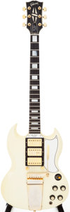Musical Instruments:Electric Guitars, 1961 Gibson SG Custom White Solid Body Electric Guitar, Serial #22470....