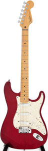 Musical Instruments:Electric Guitars, 1997 Fender Stratocaster Trans Red Solid Body electric Guitar,Serial # N7225504....