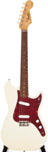 Musical Instruments:Electric Guitars, 1963 Fender Duo-Sonic Olympic White Solid Body Guitar, Serial #L31190....