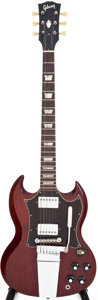 Musical Instruments:Electric Guitars, 1969 Gibson SG Standard Cherry Solid Body Electric Guitar, Serial #835906....