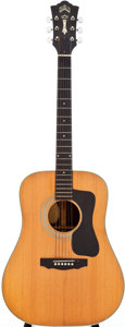 Musical Instruments:Acoustic Guitars, 1974 Guild D-50 Natural Acoustic Electric Guitar, Serial # 112380....