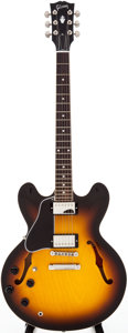 Musical Instruments:Electric Guitars, 2007 Gibson ES-335L Sunburst Semi-Hollow Body Electric Guitar,Serial # 02357715....