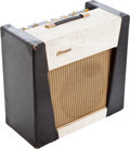 Musical Instruments:Electric Guitars, 1960s Watkins Scout Black & White Guitar Amplifier, Serial #10526....