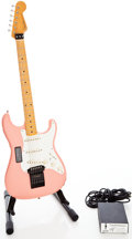Musical Instruments:Electric Guitars, 2008 Fender Eric Johnson Stratocaster Pink Solid Body ElectricGuitar, Serial # EJ08278. ...