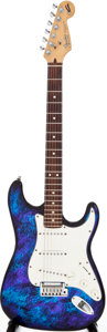 Musical Instruments:Electric Guitars, 1993 Fender Stratocaster Blue Tie-Dye Aluminum Body ElectricGuitar, Serial # N3157663. ...