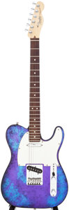 Musical Instruments:Electric Guitars, 1994 Fender Telecaster Blue Tie-Dye Aluminum Body Electric Guitar,Serial # N4953215. ...