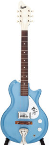 Musical Instruments:Electric Guitars, 1960s Supro Sahara Wedgewood Blue Res-O-Glas Electric Guitar,Serial # 1-54570. ...