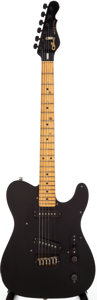 Musical Instruments:Electric Guitars, 1985 G&L Broadcaster Black Solid Body Electric Guitar, Serial #BC00255....