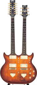 Musical Instruments:Electric Guitars, 1970s Ibanez Artist Sunburst Double Neck Solid Body ElectricGuitar, Serial # 1778227....