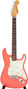 Musical Instruments:Electric Guitars, 1988 Fender Stratocaster Plus Coral Solid Body Electric Guitar,Serial # E808107. ...