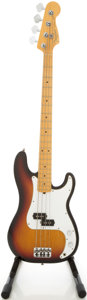 Musical Instruments:Bass Guitars, 1997 Fender Precision Bass Sunburst Electric Bass Guitar, #N7322817....