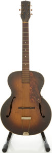 Musical Instruments:Acoustic Guitars, Circa Late 1930's Washburn 3216 Sunburst Archtop Acoustic Guitar,#3216....