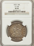 Bust Half Dollars: , 1833 50C XF45 NGC. O-104. NGC Census: (124/998). PCGS Population(178/968). Mintage: 5,206,000. Numismedia Wsl. Price for ...