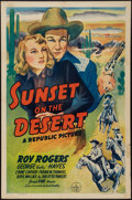 "Movie Posters:Western, Sunset on the Desert (Republic, 1942). One Sheet (27"" X 41"").Western.. ..."