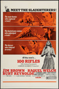 "Movie Posters:Western, 100 Rifles and Other Lot (20th Century Fox, 1969). One Sheets (2)(27"" X 41""). Western.. ... (Total: 2 Items)"