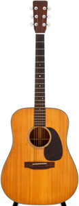 Musical Instruments:Acoustic Guitars, 1966 Martin D-18 Natural Acoustic Guitar, Serial # 211119....