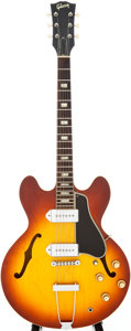 Musical Instruments:Electric Guitars, 1966 Gibson ES-330T Sunburst Semi-Hollow Body Electric Guitar,Serial # 400106....