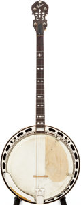 Musical Instruments:Banjos, Mandolins, & Ukes, 1926 Gibson TB-3 Red Stain Tenor Banjo, Serial # 8482-59....