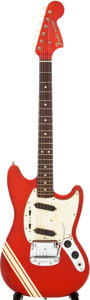 Musical Instruments:Electric Guitars, 1969 Fender Mustang Red Solid Body Electric Guitar, Serial #269676....