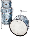 Musical Instruments:Drums & Percussion, Mid-1960s Slingerland 4-Piece Light Blue Pearl Drum Set....