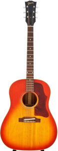 Musical Instruments:Acoustic Guitars, 1964 Gibson J-45 Sunburst Acoustic Guitar, Serial # 424003....