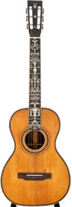 Musical Instruments:Acoustic Guitars, Early 1900s Unknown French Natural Parlor Acoustic Guitar....