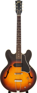 Musical Instruments:Electric Guitars, 1959 Gibson ES-330 Sunburst Semi-Hollow Body Electric Guitar,Serial # S 2807....