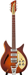 Musical Instruments:Electric Guitars, Circa 1958 Rickenbacker 345 Sunburst Semi-Hollow Body ElectricGuitar, Serial # 3V811....