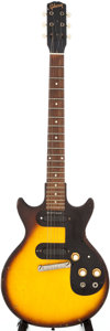 Musical Instruments:Electric Guitars, 1962 Gibson Melody Maker Sunburst Solid Body Electric Guitar,Serial # 53661....