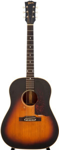 Musical Instruments:Acoustic Guitars, 1955 Gibson J-45 Sunburst Acoustic Guitar, Serial # W949....