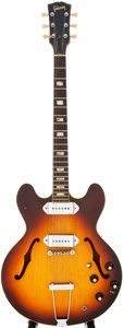 Musical Instruments:Electric Guitars, 1965 Gibson ES-330T Sunburst Semi-Hollow Body Electric Guitar, Serial # 949310....
