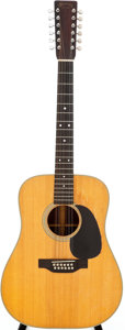 Musical Instruments:Acoustic Guitars, 1972 Martin D-12-28 Natural 12-String Acoustic Guitar, Serial #307516....