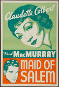 "Movie Posters:Drama, Maid of Salem (Paramount, 1937). Leader Press One Sheet (28"" X 41""). Drama.. ..."