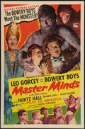 "Movie Posters:Horror, Master Minds (Monogram, 1949). One Sheet (27"" X 41""). Horror.. ..."