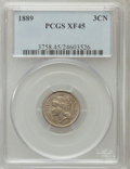 Three Cent Nickels: , 1889 3CN XF45 PCGS. PCGS Population (29/241). NGC Census: (7/188).Mintage: 18,100. Numismedia Wsl. Price for problem free ...