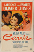 """Movie Posters:Romance, Carrie (Paramount, 1952). One Sheet (27"""" X 41""""). Romance.. ..."""