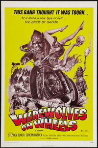 "Werewolves on Wheels (Fanfare, 1971). One Sheet (27"" X 41""). Horror"