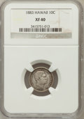 Coins of Hawaii: , 1883 10C Hawaii Ten Cents XF40 NGC. NGC Census: (34/255). PCGSPopulation (70/382). Mintage: 250,000. (#10979)...
