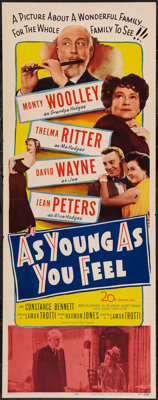 """As Young As You Feel (20th Century Fox, 1951). Insert (14"""" X 36""""). Comedy"""