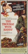 """Movie Posters:Hitchcock, The Trouble with Harry (Paramount, 1955). Three Sheet (41"""" X 78""""). Hitchcock.. ..."""