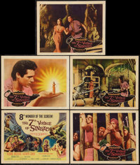 "The 7th Voyage of Sinbad (Columbia, 1958). Title Lobby Card & Lobby Cards (4) (11"" X 14""). Fantasy..."