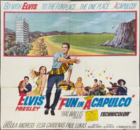 """Fun in Acapulco and Other Lot (Paramount, 1963). Six Sheets (2) (81"""" X 81""""). Elvis Presley. ... (Total: 2 Item..."""