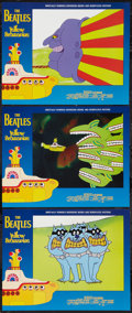 """Movie Posters:Animation, Yellow Submarine (United Artists, R-1999). Lobby Cards (3) (11"""" X14""""). Animation.. ... (Total: 3 Items)"""