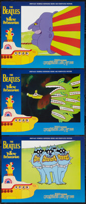 """Yellow Submarine (United Artists, R-1999). Lobby Cards (3) (11"""" X 14""""). Animation. ... (Total: 3 Items)"""