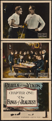 """Perils of the Yukon (Universal, 1922). Title Lobby Card & Lobby Cards (2) (11"""" X 14""""). Chapter One --..."""